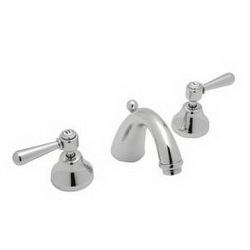 Rohl® A2707LMAPC-2 Verona Widespread Lavatory Faucet, 1.2 gpm, 4-15/64 in H Spout, 8 in Center, Polished Chrome, 2 Handles, Pop-Up Drain