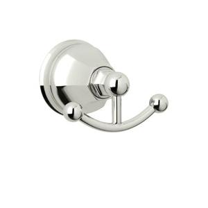 Rohl® A6881-PN Palladian Robe Hook, 2 Hooks, 4-9/64 in OAW x 2-7/8 in OAD, Brass