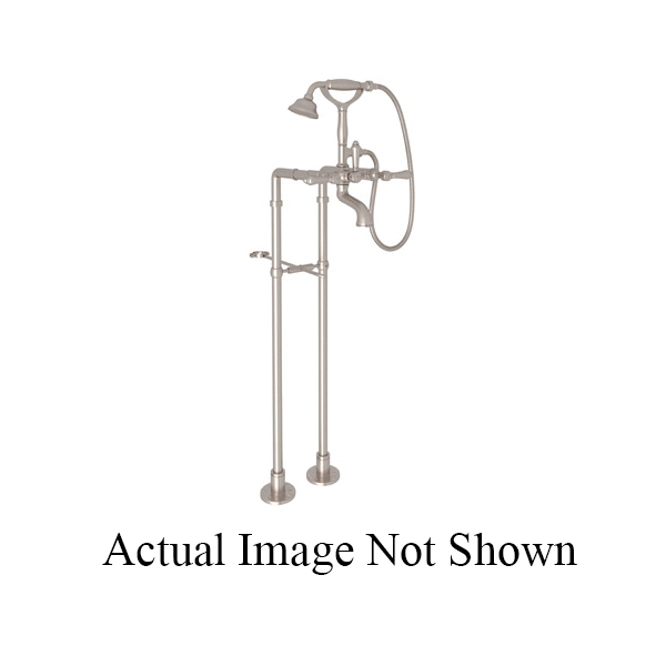 Rohl® AKIT1401XC-STN Country Bath Viaggio/Acqui Exposed Tub Set, 10 gpm, 5-29/32 in Center, Satin Nickel, 2 Handles, Hand Shower Yes/No: Yes