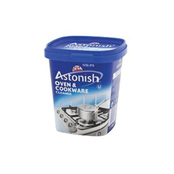 Rohl® ASTONISH Oven and Cookware Cleaner, 17 oz Tub, Solid Smooth Paste, Gray, Lemon