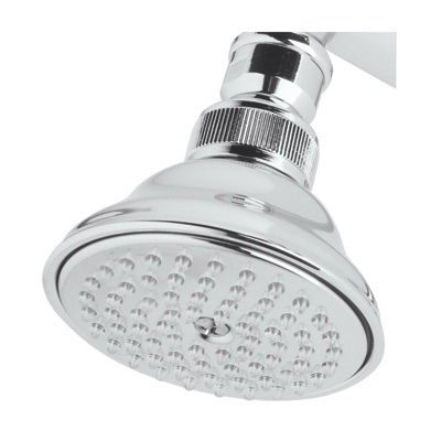 Rohl® C5056.1E-APC Perletto Anti-Cal/Spa Shower Head, 2 gpm, 1 Spray, 3-1/16 in Dia x 2-1/2 in H Head