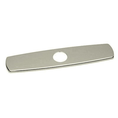 Rohl® COP10-STN Cover Plate, For Use With 3-Hole Kitchen Sink, 2-3/8 in L x 1/4 in H x 10 in W, Solid Brass, Satin Nickel