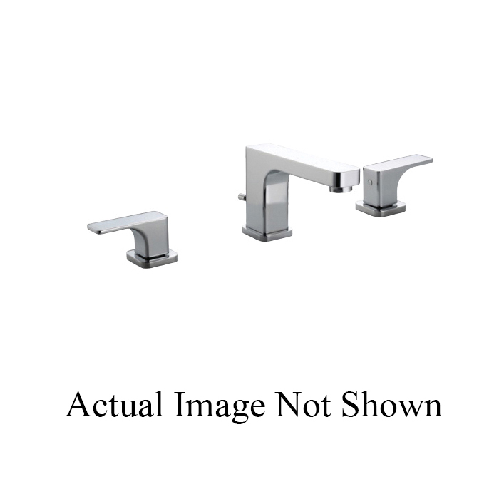 Rohl® CU102L-PN-2 Modern Bath Quartile Widespread Lavatory Faucet, 1.2 gpm, 3-1/8 in H Spout, 5-7/8 to 11-3/4 in Center, Polished Nickel, 2 Handles, Pop-Up Drain