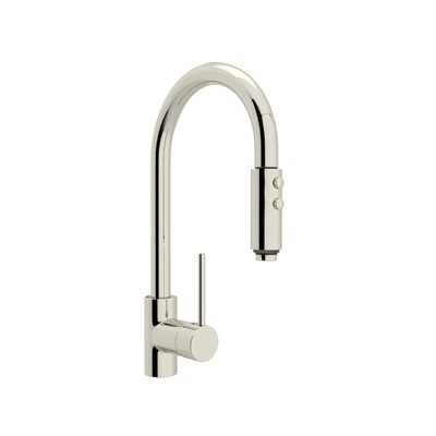 Rohl® LS59L-PN-2 Modern Architectural Pull-Down Kitchen Faucet, 1.8 gpm, 1 Faucet Hole, Polished Nickel, 1 Handle