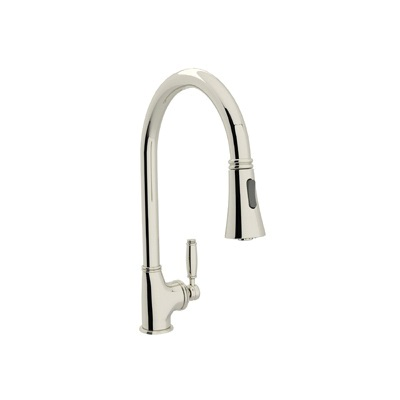 Rohl® MB7928LM-PN-2 Michael Berman Pull-Down Kitchen Faucet, 1.8 gpm, 1 Faucet Hole, Polished Nickel, 1 Handle
