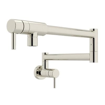 Rohl® QL66L-PN Modern Architectural Pot Filler, 1.8 gpm, Polished Nickel, 2 Handles