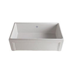 Rohl® RC3017-WH Shaws Original Egerton Apron Front Kitchen Sink, Rectangle, 30-7/16 in W x 18-7/16 in D x 10-7/64 in H, Fireclay, White