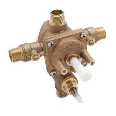 Rohl® RMV-2 High Flow Pressure Balance Rough-In Valve With Diverter, 1/2 in MNPT Inlet x 1/2 in MNPT Outlet, 50 psi, 4.7 gpm