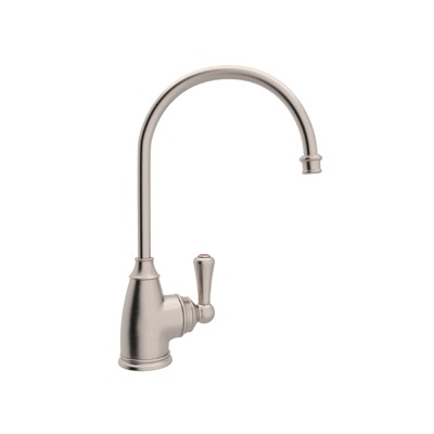 Rohl® U.1325L-STN-2 Perrin & Rowe® Traditional Hot Water Faucet, 0.5 gpm, 1 Handle, Satin Nickel
