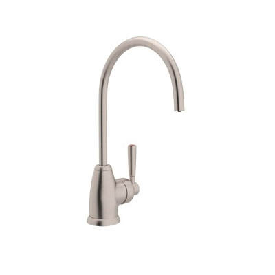 Rohl® U.1345L-STN-2 Perrin & Rowe® Contemporary Mimas Hot Water Faucet, 0.5 gpm, 1 Handle, Satin Nickel