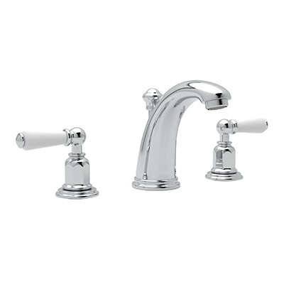 Rohl® U.3760L-APC-2 Perrin & Rowe® Bath Edwardian Widespread Lavatory Faucet, 1.2 gpm, 4 in H Spout, 6 to 16 in Center, Polished Chrome, 2 Handles