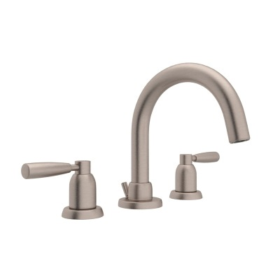 Rohl® U.3955LS-STN-2 Perrin & Rowe® Bath Holborn Widespread Lavatory Faucet, 1.2 gpm, 3-1/4 in H Spout, 8 in Center, Satin Nickel, 2 Handles, Pop-Up Drain