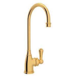 Rohl® U.4700-IB-2 Perrin & Rowe® Bar/Food Prep Faucet, 1.8 gpm, Inca Brass, 1 Handles