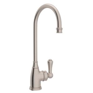 Rohl® U.4700-STN-2 Perrin & Rowe® Bar/Food Prep Faucet, 1.8 gpm, Satin Nickel, 1 Handles