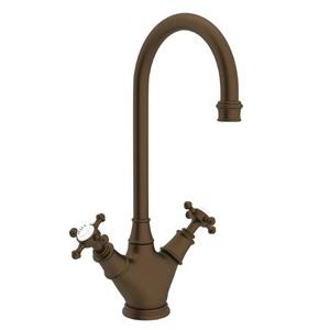 Rohl® U.4703X-EB-2 Perrin & Rowe® Bar/Food Prep Faucet, 1.8 gpm, English Bronze, 2 Handles