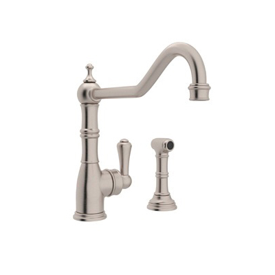 Rohl® U.4747-STN-2 Perrin & Rowe® Kitchen Mixer With Side Spray, 1.8 gpm, Satin Nickel, 1 Handle