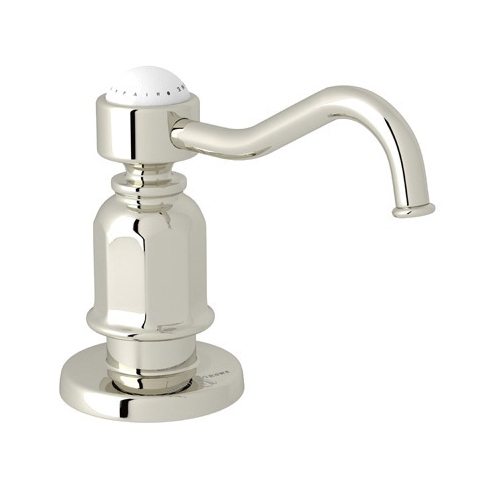Rohl® U.6995-PN Perrin and Rowe® Traditional Soap/Lotion Dispenser, 16 fl-oz, Deck Mount, Polished Nickel