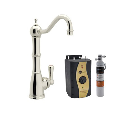 Rohl® Perrin & Rowe® U.KIT1321L-PN-2 Traditional Hot Water Dispenser Kit, Deck Mount, Polished Nickel