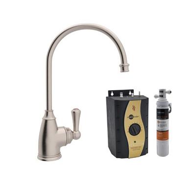 Rohl® Perrin & Rowe® U.KIT1325L-STN-2 Traditional Hot Water Dispenser Kit, Deck Mount, Satin Nickel