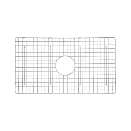 Rohl® WSGMS3018-SS Wire Sink Grid, 26-3/4 in L x 15 in W x 1-3/8 in H, Stainless Steel