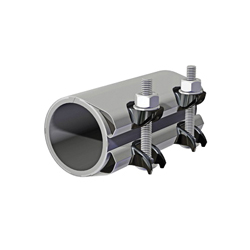 Romac® 152-10506 SCC Pipe Repair Clamp With Cast Iron Lug, 3/4 in IPS Pipe, 304 Stainless Steel, Domestic