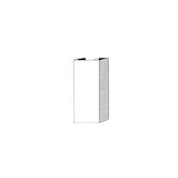 Runtal® PC-3 Vertical Pipe Cover, For Use With UF-2/UF-3/UF-4 Series Baseboard/Wallpanel, White