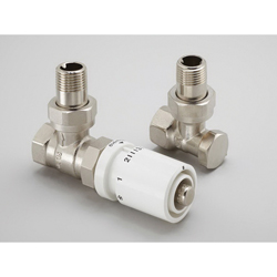 Runtal® CONTROL-ANG SET Standard Angle Shut Off and Control Valve With White Sensor, 1/2 in