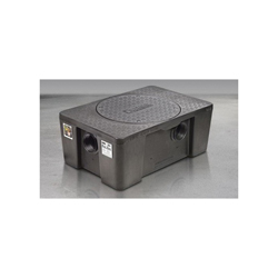 Schier 4065-001-01 GB2 Grease Interceptor, 20 gal, 35/50 gpm, 4 in Inlet x 4 in Outlet, Domestic