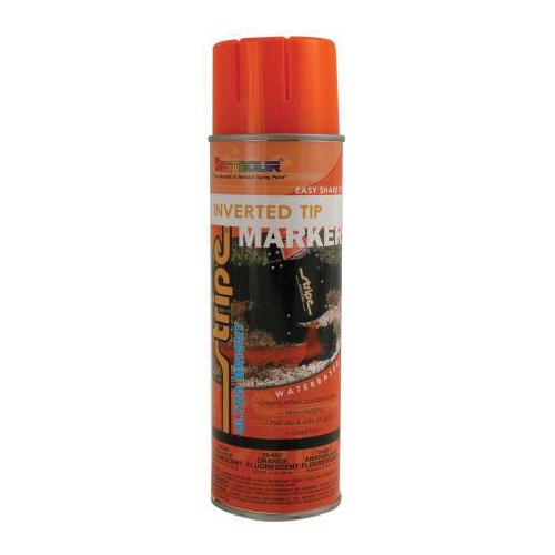 SEYMOUR® STRIPE® 20-657 Water Based Inverted Tip Marker, 20 oz, Aerosol, Fluorescent Orange, 15 min Curing