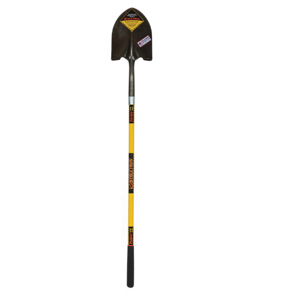Seymour® STRUCTRON® Power™ 49560 S600 Round Point Shovel, 9-1/2 in L x 11-1/2 in W, 48 in Handle Length, Fiberglass Handle