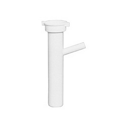 Sioux Chief 231-2 One-Piece DW Dishwasher Tailpiece With Baffle, 1-1/2 in, 8 in L, Direct Tubular Connection, Polypropylene, Domestic