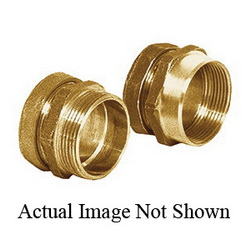 Sioux Chief 270-6 DWV Connector With Brass Ferrule, 1-1/2 in, Tube x MNPT, Solid Brass, Domestic