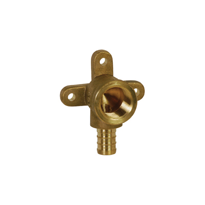 Sioux Chief 647XG2E Elbow Adapter With Drop-Ear, 3/4 in, F1807 PEX Crimp™ x FNPT, Brass, Domestic