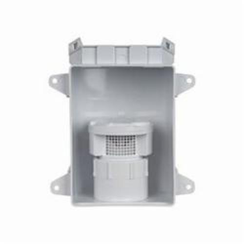 Sioux Chief 696-11P Air Admittance Valve With Adapter and OX Box Kit, 1-1/2 in, Thread x Hub Adapter, ABS Body