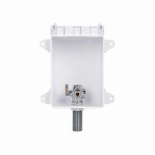 Sioux Chief OxBox™ 696-G1010WF Ice Maker Outlet Box With MiniRester™ Water Hammer Arresters, 1/2 in PEX F1960 Grip™, ABS