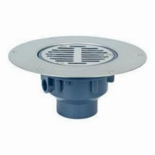 Sioux Chief Halo™ 822-2PS Adjustable Floor Drain With Round Ring and Strainer, 2 in, Hub, PVC Drain, Domestic