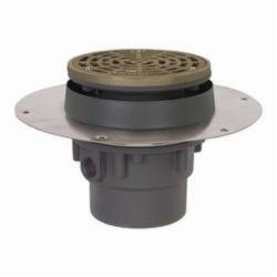 Sioux Chief Halo™ 822-2PNR Adjustable Floor Drain With Ring and Strainer, 2 in, Hub, PVC Drain