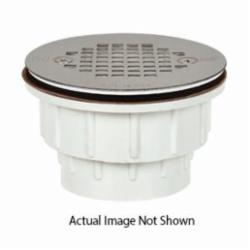 Sioux Chief 825-2A Shower Module Drain, 2 in, Solvent Weld, 4-1/4 in Grid, ABS Drain