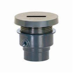 Tomahawk FinishLine™ 832-2PF Adjustable Floor Drain With Coring Plug, 2 in, Hub, PVC Drain, Domestic