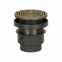 Sioux Chief FinishLine™ 832-4DHNR Adjustable On-Grade Floor Drain With Ring and Strainer, Ductile Iron Drain