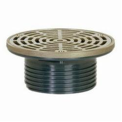 Tomahawk FinishLine™ 832-4HNR Adjustable Floor Drain With Ring and Strainer, 4 in, Hub, PVC Drain