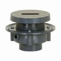 Sioux Chief FinishLine™ 833-3PF Adjustable Rough-In Flashing Drain With Coring Plug, 3 in, Hub, PVC Drain, Domestic