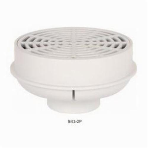 Sioux Chief QuadDrain™ 841-2P Floor Drain, 2 in, Hub, 6-1/2 in, PVC/ABS Drain