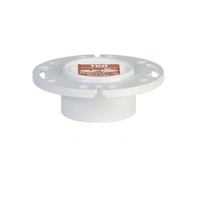 Sioux Chief TKO™ 883-PT Closet Flange With Plastic Ring, 3 x 4 in, Hub, PVC, Domestic