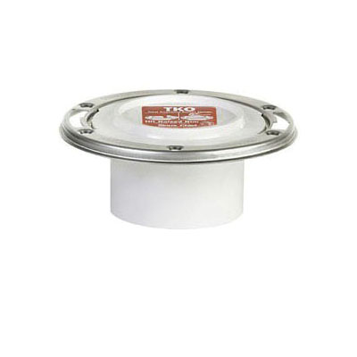 Sioux Chief TKO™ 884-PTM Closet Flange With Stainless Steel Swivel Ring, 3 x 4 in, Hub, PVC, Domestic