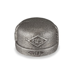 Smith-Cooper® 33C 1020C Pipe Cap, 2 in, NPT, 150 lb, Malleable Iron, Black