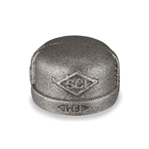 Smith-Cooper® 33C 1001C Pipe Cap, 1/8 in, NPT, 150 lb, Malleable Iron, Black
