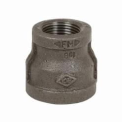 Smith-Cooper® 33RC1006004C Reducing Pipe Coupling, 3/4 x 1/2 in, NPT, 150 lb, Malleable Iron, Black