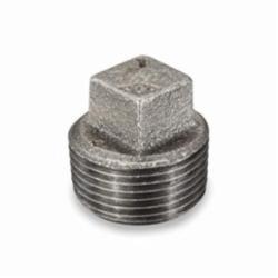 Smith-Cooper® 33SP1012C Square Head Pipe Plug, 1-1/4 in, NPT, 150 lb, Malleable Iron, Black
