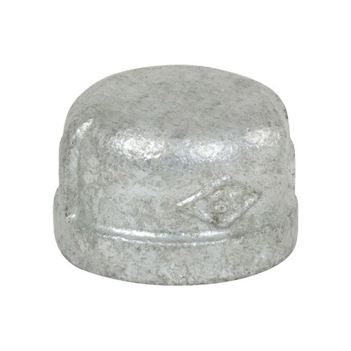 Smith-Cooper® 34C 1004C Pipe Cap, 1/2 in, NPT, 150 lb, Malleable Iron, Galvanized